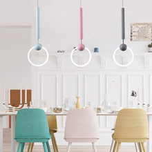 Modern Art LED Kitchen Dining&bar Pendant Light Circle Ring  Pendant Lamp for Living Room Haning Ring Circle Suspension Lighting t simple artistical pendant light with led chips fish wireacylic lamp for dining room bar ring shape for office best pices