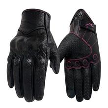 Gants de moto en cuir pour femmes, XS S M, pour moteur, pour Motocross, pour Motocross, pour lété