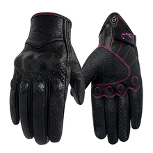 Motorcycle Gloves Women XS S M Leather Touch Screen Summer Motor Guantes Cycling Glove Female Motocross Motorbike Luvas Mujer