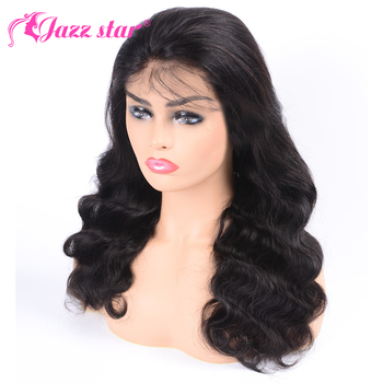 Peruvian Wig Body Wave Wig Lace Front Human Hair Wig For Women Pre Plucked With Baby Hair 4*4 Lace Wig Jazz Star Non Remy Hair  1
