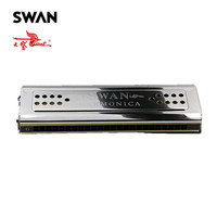 Swan 24 Holes Double Sides Tremolo Harmonica C G Key High End Performance Musical Instruments Woodwind