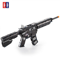 Simulation M4A1 carbine Guns Toy gun Assembly Military Technic Model Building Block Brick compatible Legos toy gifts for kids