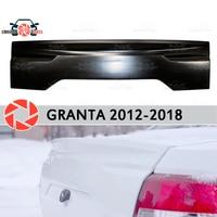 Lip spoiler for Lada Granta 2012 2018 Sedan pad on the trunk lid plastic ABS decoration trunk door accessoriescar styling