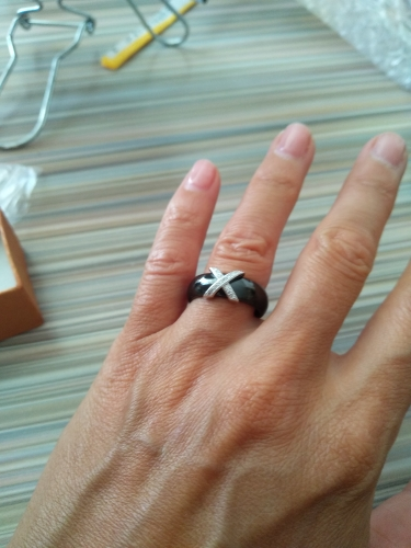Cross Ceramic Band Ring photo review