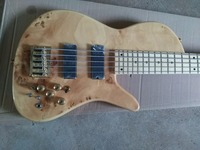 free shipping Custom shop Top quality 6 Strings Burl butterfly electric Bass gold hardware 5 string electric bass