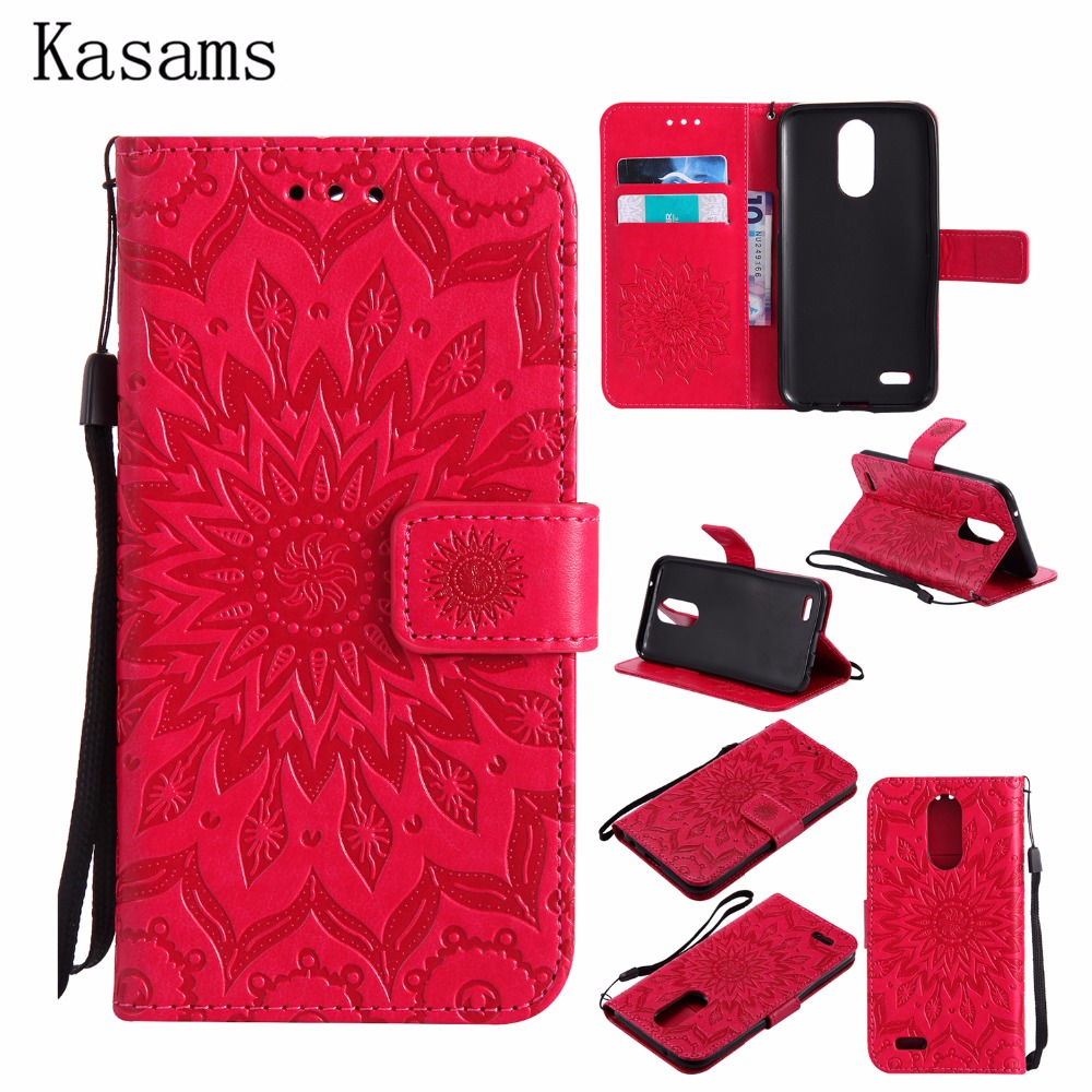 3D Sunflower For LG K10 2017 K10 2016 Phone Shell For LG X400 M25 K120 K130 K121 PU Leather Mobile Case Wallet Stand Flip Cover ...