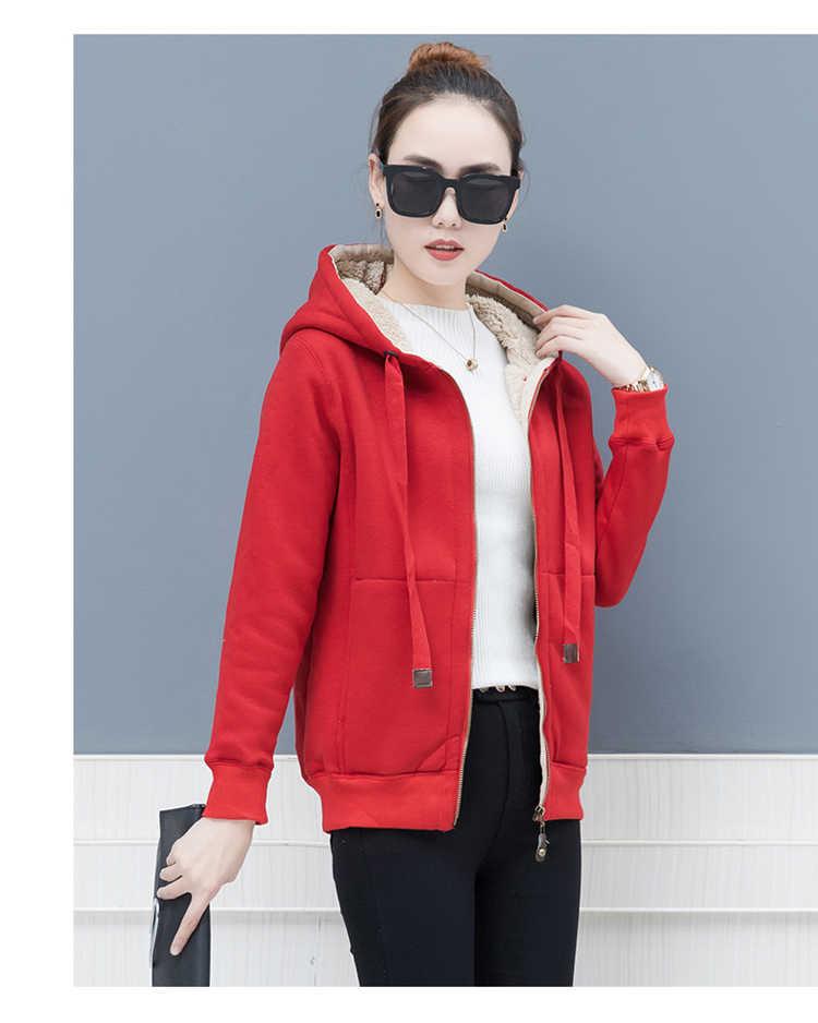 e15c0f559 Ropa juvenil para mujeres coreanas sudaderas con capucha para estudiantes  sudadera de moda de invierno para mujeres añadir lana caliente tops ...