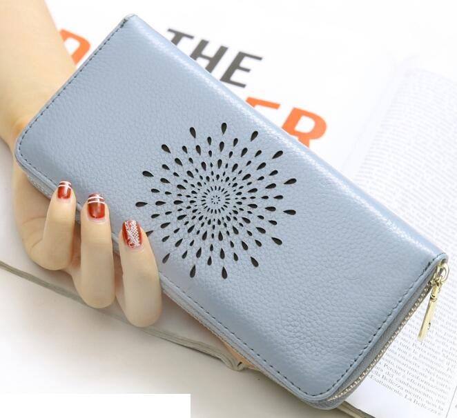 Real Genuine Leather Women Wallets Brand Design High Quality 2017 Cell phone Card Holder Long Lady Wallet Purse Clutch aim fashion women s long clutch wallet and purse brand designer vintage leather wallets women bags high quality card holder n801