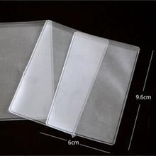 10 шт., пылезащитные прозрачные держатели для карт, мягкие пластиковые защитные пленки для кредитных карт, деловые Чехлы для карт, держатели для ID 9,6x6 см