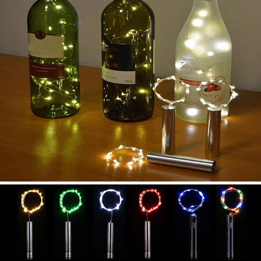 5/10PCS Wine Bottle LED String Light DIY Christmas Fairy Lights For Bar Bottle Stopper Wedding Party Decoration Battery Powered