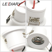 LEDIARY White Mini LED Downlight 27mm Cut Hole Under Cabinet Spot Light 1.5W for Jewelry Display Ceiling Recessed Lamp 100V-240V