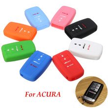 4 Button Smart Remote Key Holder Copertura Della Cassa Del Silicone Fob Shell Per RLX ACURA ILX MDX RDX TLX 2016(China)