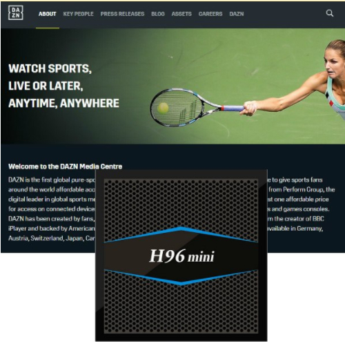 1 Year DAZN IPTV Sports Live And On Demanding Streaming