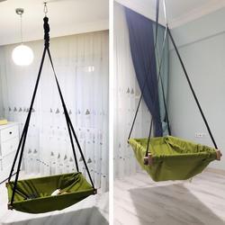 Hängen kleinkind baby holz veranda schaukel hängematte wiege für indoor und outdoor Svava Jumper Holz Hängematte Schaukel Wiege