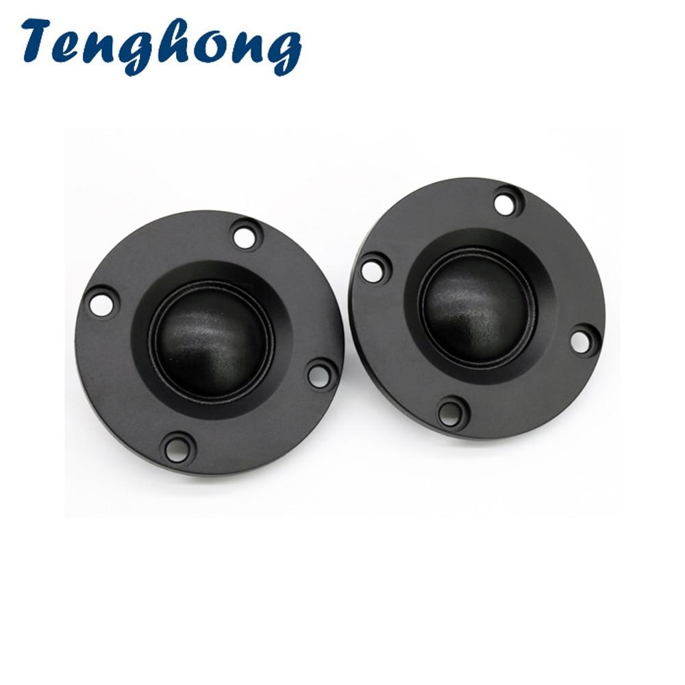 Tenghong 2pcs 2Inch Tweeter 4Ohm 8Ohm 10W HIFI Audio Speaker Silk Dome Loudspeaker For Home Audio Treble Speaker DIY Horn UnitPortable Speakers   -