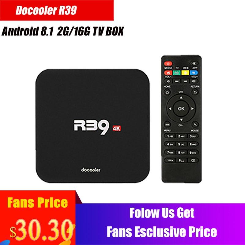 Docooler R39 TV caja Android 8,1 RK3229 Quad Core Smart TV caja androide 4 K 2 GB/16 GB wiFi H.265 HD Media Player PK X96 Box TV
