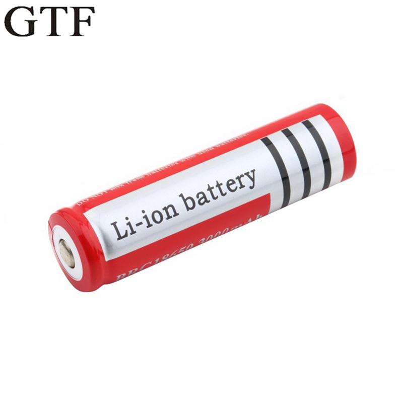 GTF 18650 lithium battery 3000mah 3.7v bright flashlight with a special pointed charge battery