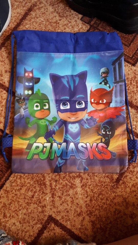 1pc Cartoon Drawstring Bag Spider Man,Mario School Backpack for Boy ,Girls Unicorn Satchel Bundle Rucksack photo review