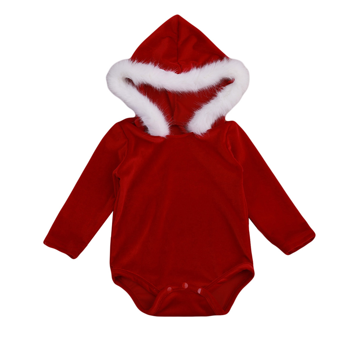 Christmas baby girl clothes infant newborn baby cute hoodie pleuche   romper   princess baby xmas clothing for girls new year