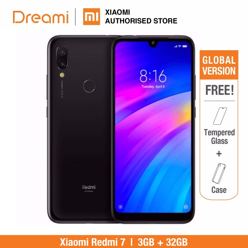 Global Version Xiaomi Redmi 7 32GB ROM 3GB RAM (Brand New and Sealed Box) READY Stock