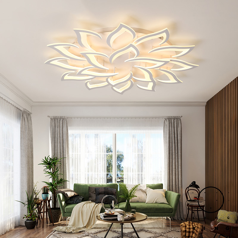 Modern Led Acrylic Rectangle Ceiling Lights For Living Room Bedroom Study Room Square 110V 220V Ceiling Lamp Fixtures купить