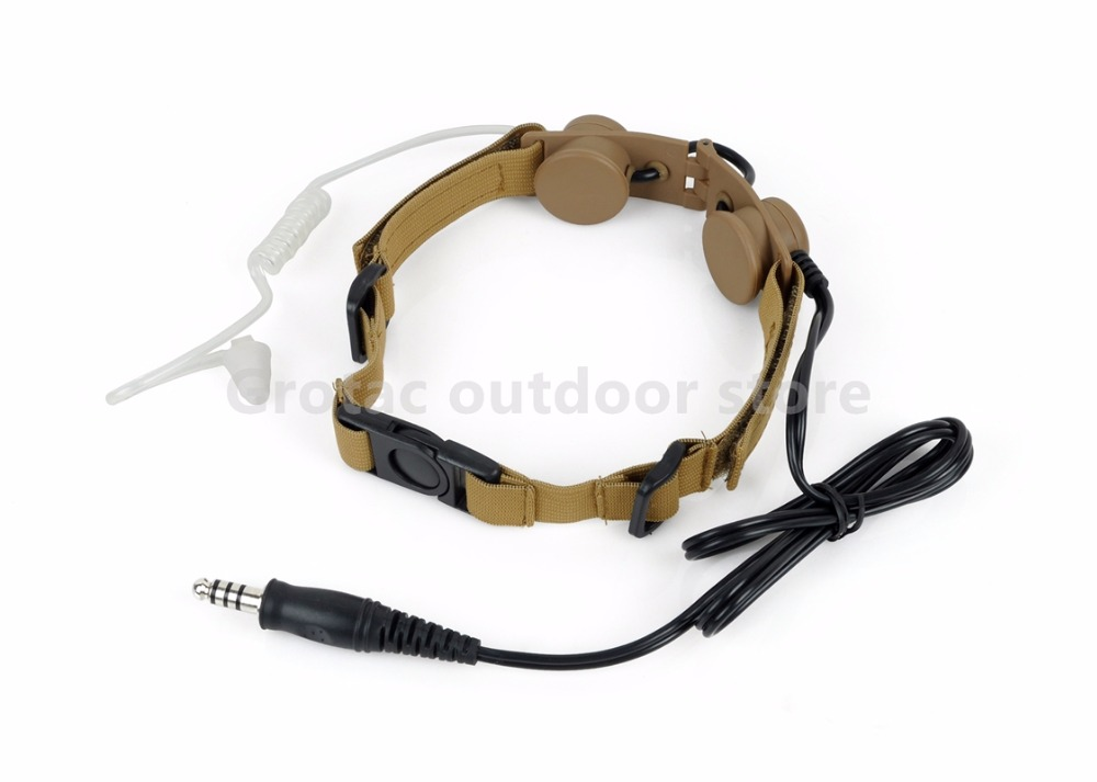Element Z Tactical Tactical Headset Throat Mic Earphone Headphone Hunting Comms Gear Military Version Plug Microphone