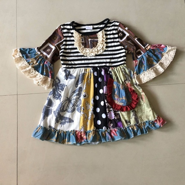 Apply to Fall 100%Cotton Boutique Girls Dress Infants Children Clothing  Smart Casual Habiliment Nursling Cute Apparel Accessory af94a04aee