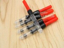 10 개 레드 구리 펜 잉크 컨버터 고급 물 저장 장치 펜 리필