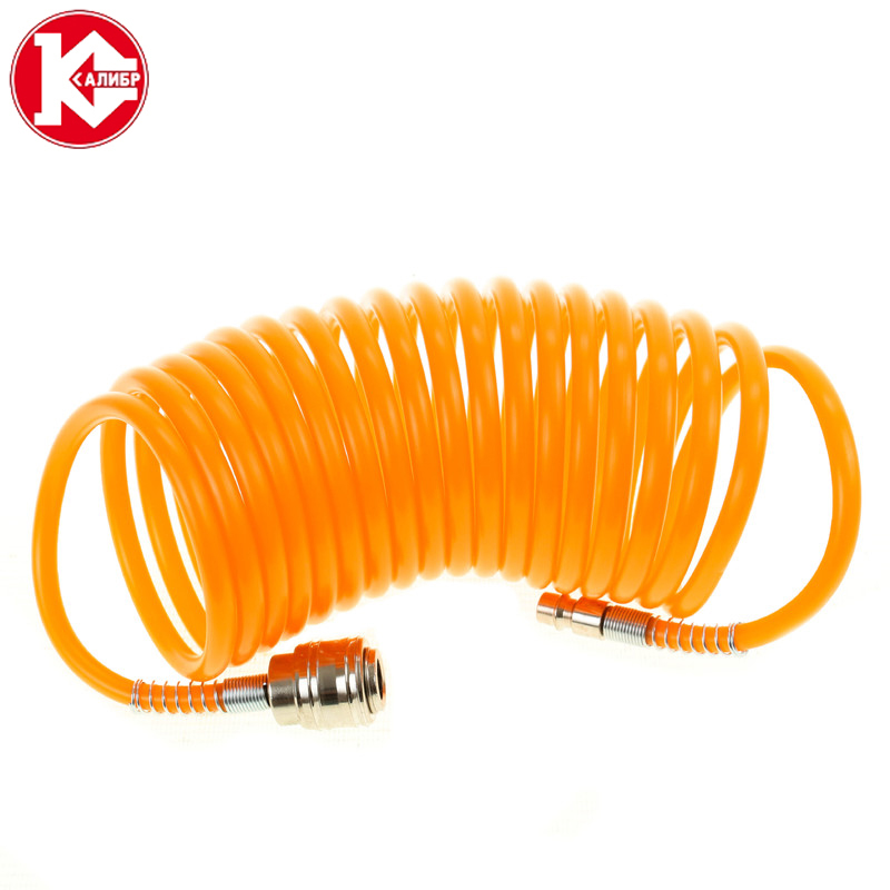 цена на Kalibr, hose for compressor 5 meters, Air Compressor Hose Tube Pneumatic Hose Pipe for Compressor Air Tool