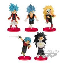 Original Banpresto Dragon ball super Heroes world collectable figure Vol.4 WCF Cumber Burdock Vegetto Trunks Goku figurine