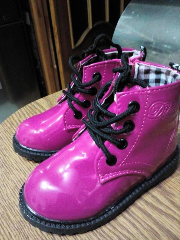 Обувь для детей Для мальчиков и девочек из искусственной кожи на шнуровке высокие дети кроссовки для девочек детская обувь спортивная осень-зима детская обувь
