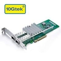 10gtek для Intel E10G42BTDA 82599ES чип 10GbE Ethernet Converged Network Adapter X520 DA2/X520 SR2, PCI E X8 двойной SFP + Порты и разъёмы