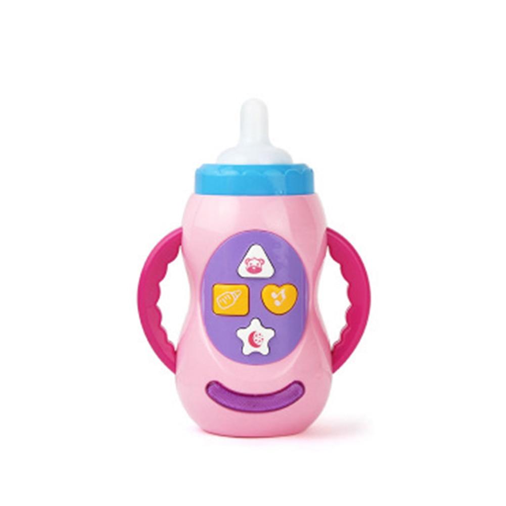 Baby Kids Children Safe Sound Music Light Milk Bottle Toy Educational Baby Bottle Toys