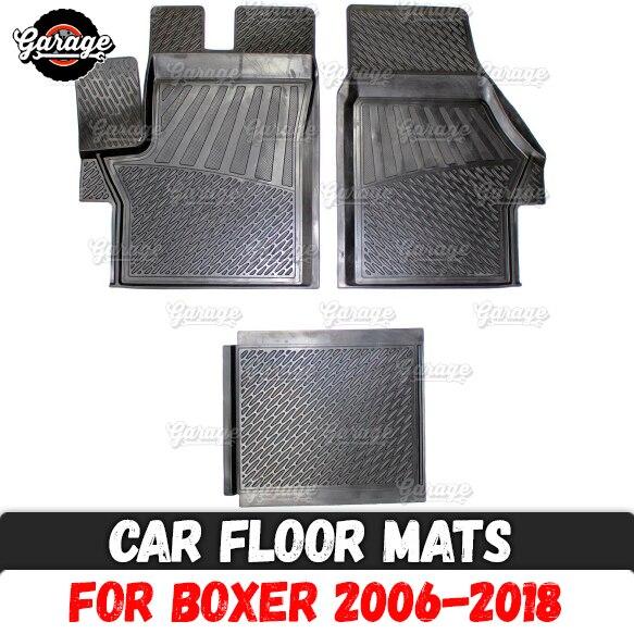 Car floor mats case for Peugeot Boxer 2006 2018 rubber 1 set 3 pcs accessories protect