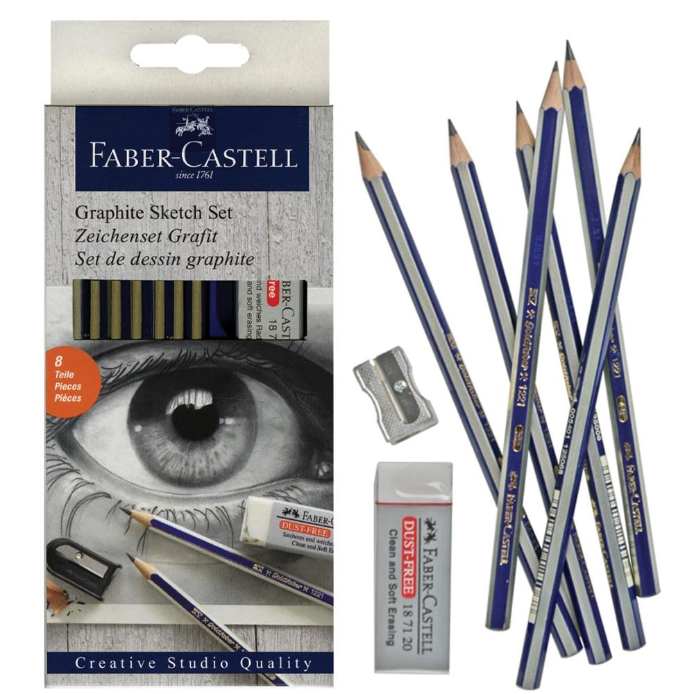 Faber Castell 6 Pc Drawing Pencil Set  Pack Of 4