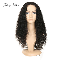 Brazilian Jerry Curly Full Lace Human Hair Wigs Remy Add Hair With Baby Hair Natural Color Wig Zing Silky brinco Hair Vendors