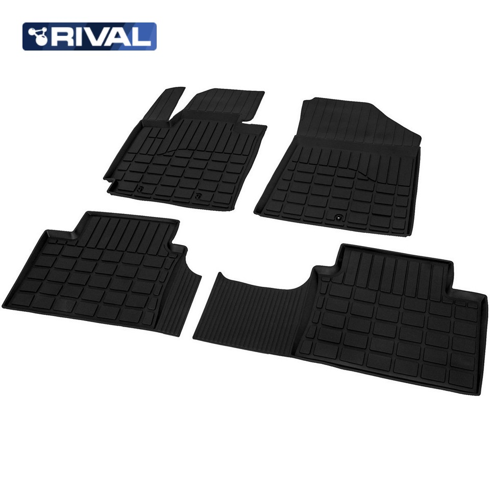 For Kia Soul 2014-2019 rubber floor mats into saloon 4 pcs/set Rival 62806001 for 1 10 rc buggy front rear wheel rim rubber tyre tires red 66004 66025 for off road car pack of 4 pcs