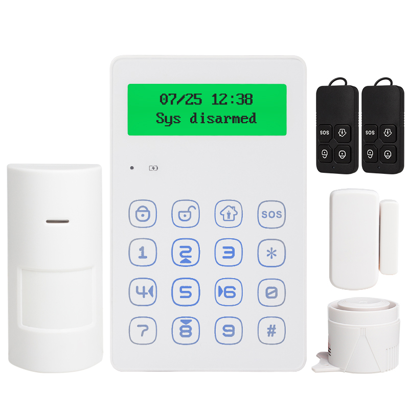 Voice Prompt 433mhz Wireless Keypad GSM Alarm System Android IOS APP Control With Anti-tamper Function Wired Siren