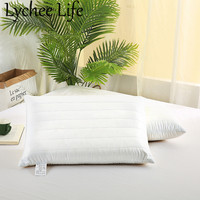 Lychee Life Solid Color Pillow White Rectangle 40x60cm Memory Pillow Simple Style Home Room Bedding Textile Decoration Supplies