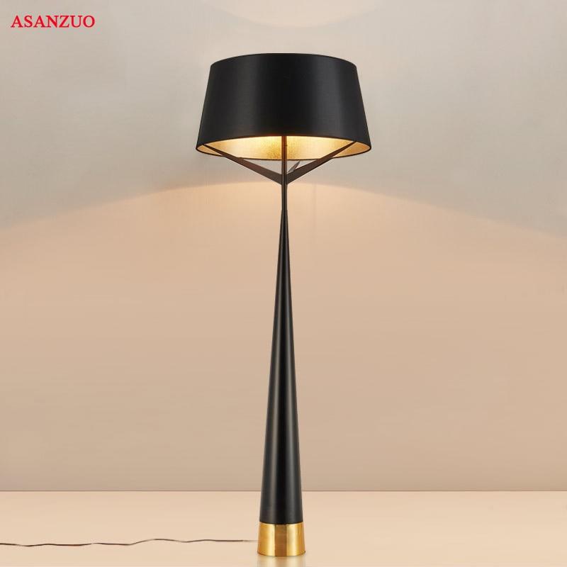 Bedroom Lamps Black: Post Modern Floor Lamp Black Floor Light Table Lamp Metal