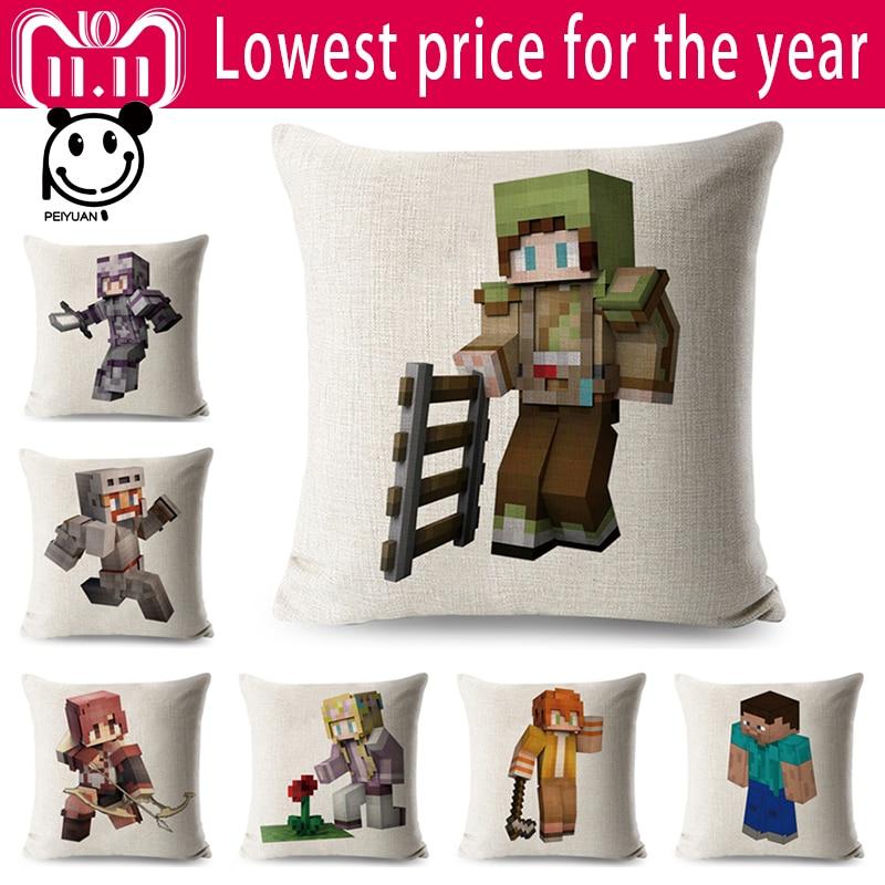Печатные Minecraft Льняные - Домашний текстиль
