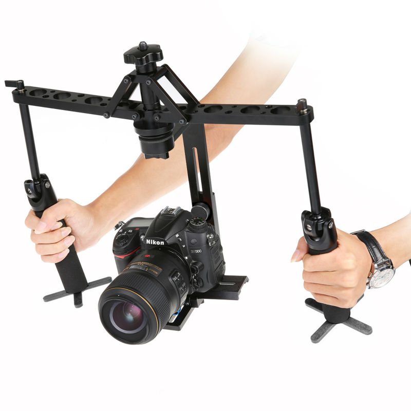 Black Handheld Spider Stabilizer Video Steadicam Steady Rig for DSLR Camera Camcorder 1pcs Freeshipping portable 2 axis handheld stabilizer video gimbal steadicam steady for dslr camera dv bmpcc