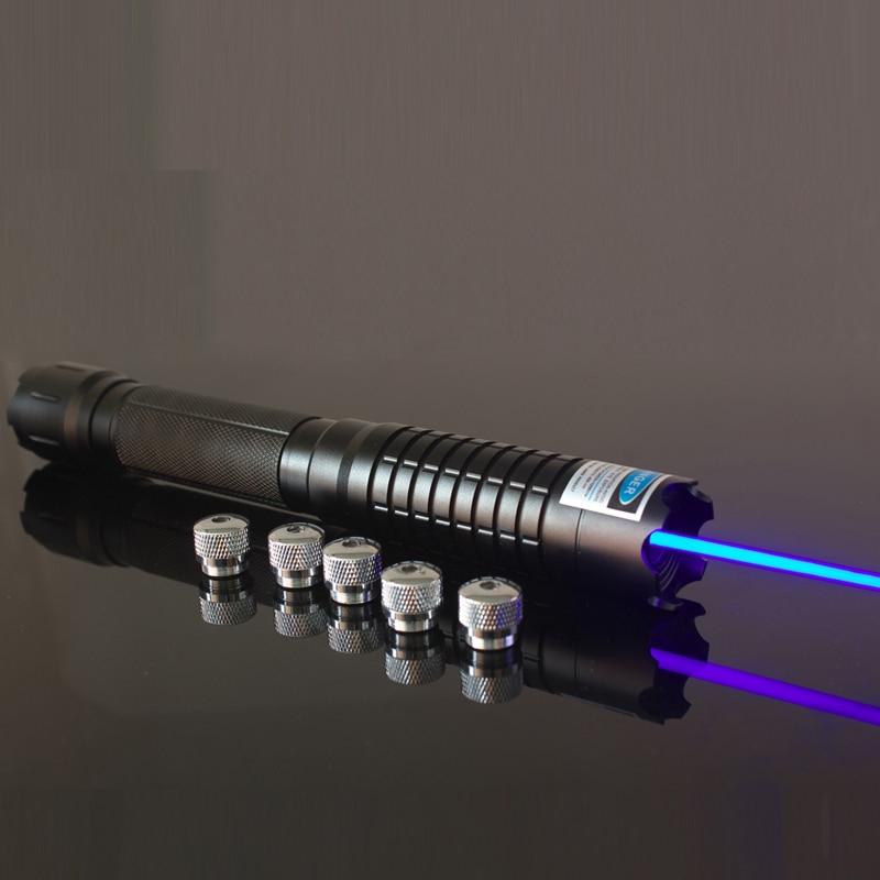 Oxlasers ox-OX-BX5 445nm che brucia focusable laser blu puntatore blu lazer (5 stelle Cappellini) con occhiali di sicurezza di Trasporto libero
