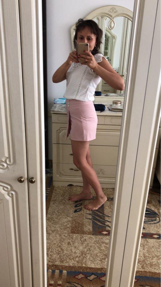 Shorts Women Summer Fashion High Waist Shorts Female Casual Loose Culottes Black/Pink/White Shorts Skirts photo review
