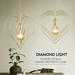 Nordic kreatywne serce żyrandol LED E27 osobowość nowoczesny żyrandol do salonu sypialnia pokój dziecięcy restauracja w Wiszące lampki od Lampy i oświetlenie na