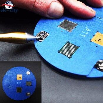 Mikroskop naprawa linii papilarnych gumowe siedzisko dedykowane użycie przycisku Home/Chips naprawa Pad dla iPhone 5S 6 6S 7 8 Plus X r...