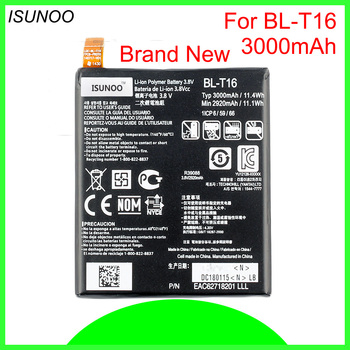 ISUNOO 10pcs/lot 3000mAh BL-T16 Phone Battery for LG G Flex 2 H950 H955 H959 LS996 US995 Battry