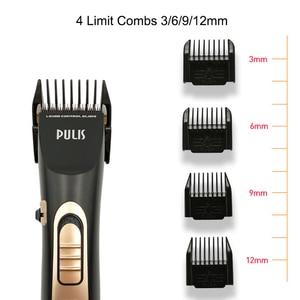 Image 4 - PULIS Universal eléctrico Clipper pelo Men Hair Trimmer recargable peinado máquina de corte para el hogar peluquería cortapelos profesional hombre 9150