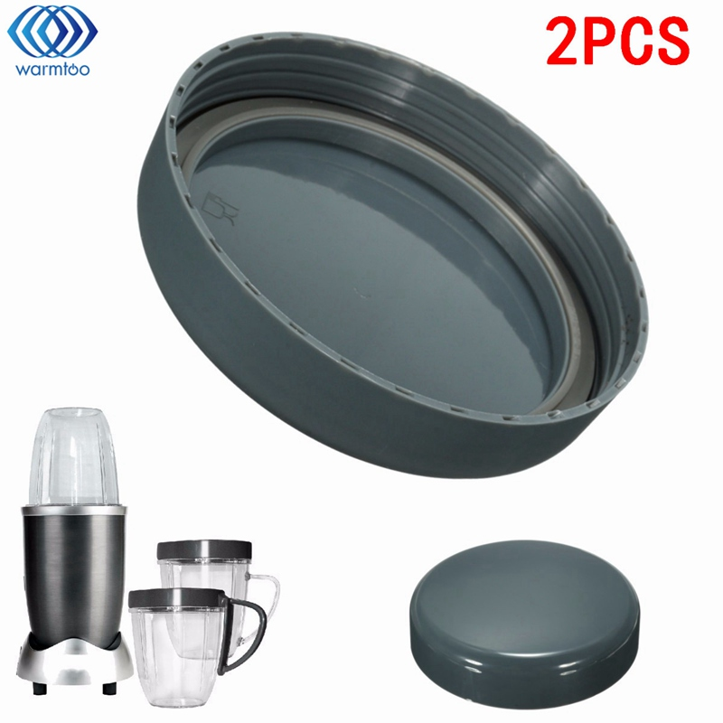 2Pcs Juicer Replacement Cup Lid Stay Fresh Resealable Cap Spare Parts Gaskets For Nutribullet 900W With Rubber Plastic Gray 8 replacement spare parts blender juicer parts 4 rubber gear 4 plastic gear base for magic bullet 250w 38