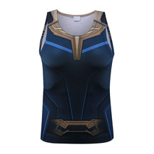 ФОТО avengers 3 thanos 3d printed t shirts men compression shirts cosplay costume 2018 summer new crossfit tops for male clothing